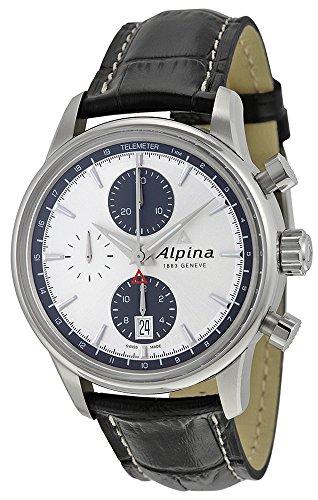 Alpina Alpiner Chronograph Automatic Stainless Steel Mens Strap Watch Calendar AL 750SG4E6