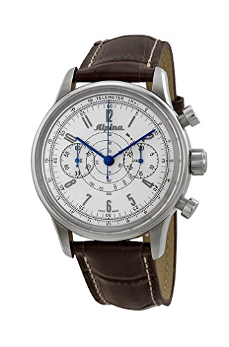 Alpina 130 Heritage Pilot Chronograph Automatic Stainless Steel Mens Strap Watch AL 860S4H6