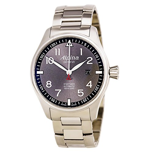 Limited Edition Alpina Startimer Pilot Automatic Sunstar Steel Mens Watch Calendar AL 525GB4S6B