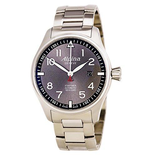 Limited Edition Alpina Startimer Pilot Automatic Sunstar Steel Mens Watch Calendar AL 525GB4S6B