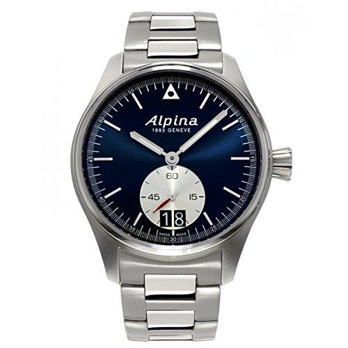 Uhr Alpina Startimer Pilot al 280ns4s6b Quarz Batterie Stahl Quandrante schwarz Armband Stahl