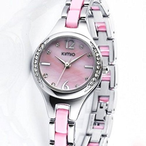 Edelstahl Design Ladywatch Girlswatch pink