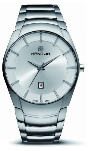 HANOWA Herren-Armbanduhr SIMPLICITY Analog edelstahl silber 16-502104001