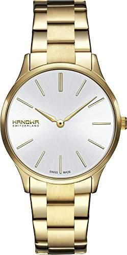 Hanowa Pure Damenuhr goldfarbensilber 16-706002001