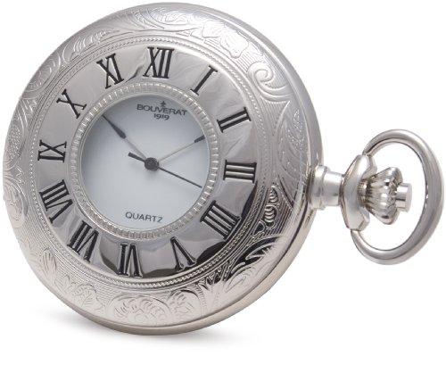 Bouverat 1919 Hunter Full Roman Pocket Uhr mit weissem Zifferblatt BV821203