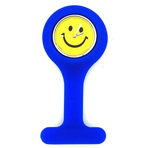 BOXX blaue Schwesteruhr mit Smiley Zifferblatt