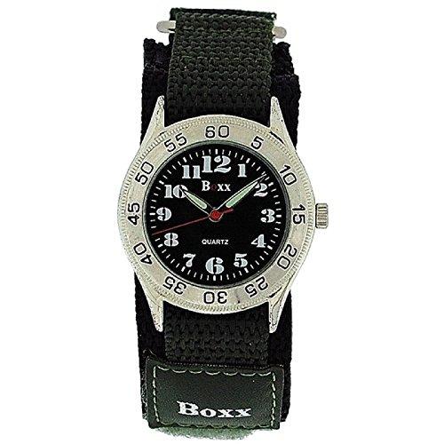 BOXX Gruene Army Camouflage Kinder Jungen Sportarmbanduhr mit Klettverschluss Armband