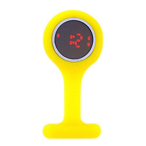 BOXX LED gelbe Pulsmesser Kautschuk Broschenuhr