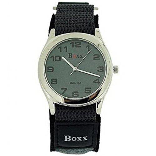 BOXX Herren Graue Klettverschluss Armband Uhr