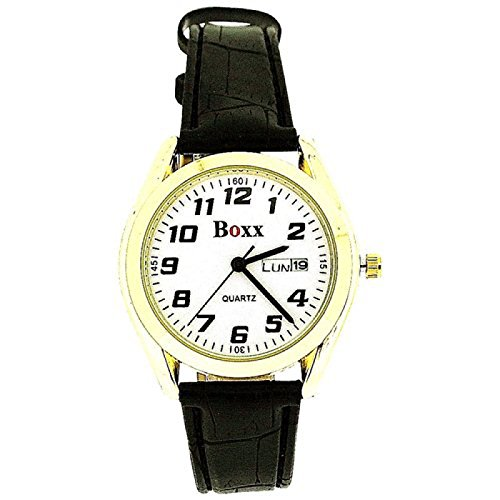 BOXX mit Datum und Wochentaganzeiger sowie Armband im Lederlook