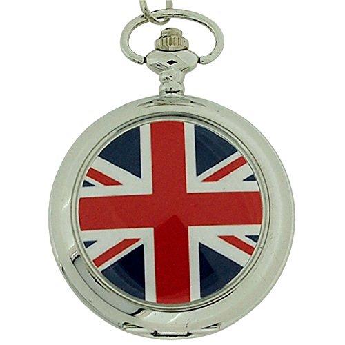 BOXX Union Jack Taschenuhr an 30 48 cm Kette