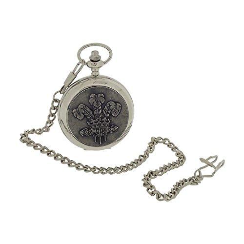 Boxx Herren Sprungdeckel Taschenuhr Prince of Wales mit 33 cm Uhrkette BOXX400