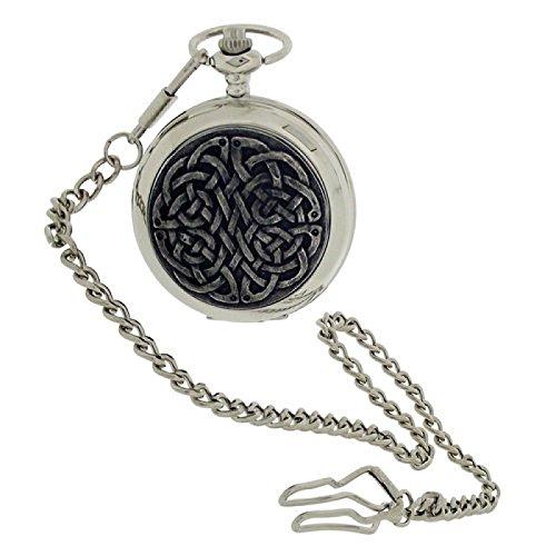 Boxx Herren Taschenuhr Unendlicher Knoten mit 33 cm Uhrkette BOXX398