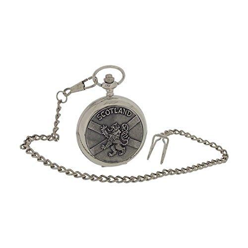 Boxx Schottland Herren Taschenuhr Loewe Kreuz Muster 33 cm Uhrkette BOXX397