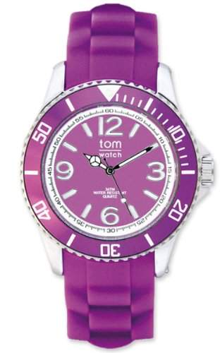 TOM WATCH Armbanduhr BASIC 40 mm Pure Purple Violett, Groesse L 133-66