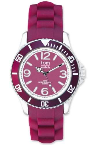 TOM WATCH Armbanduhr BASIC 44 mm Cranberry Red, Groesse XL 133-71