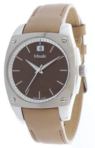 Misaki Damen-Armbanduhr Analog Quarz Leder CRWMC98WGREEN