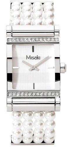 Misaki Damen Armbanduhr Parisiennewhite Analog verschiedene Materialien CRWPARISIENNEWH