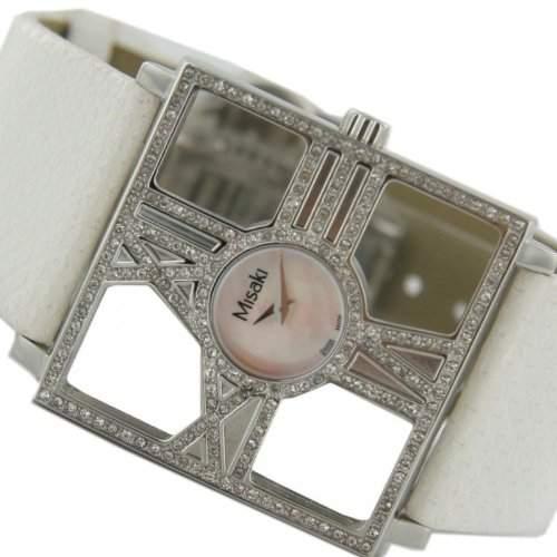 Misaki Damen-Armbanduhr Analog Quarz Leder PCUWDIVA