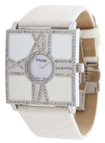 Misaki Damen-Armbanduhr Analog Quarz Leder PCUWSCALA