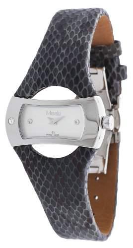 Misaki Damen-Armbanduhr Analog Quarz Leder PWANACONDA
