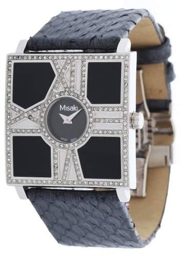 Misaki Damen-Armbanduhr Analog Quarz Leder PWOPERA