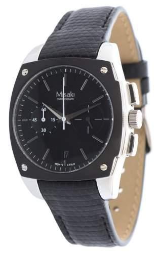 Misaki Damen-Armbanduhr Analog Quarz Leder QCRWMC98WBL