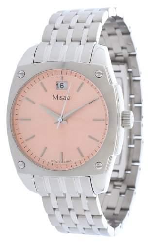 Misaki Damen-Armbanduhr Analog Quarz Edelstahl QCRWMC98WPINK