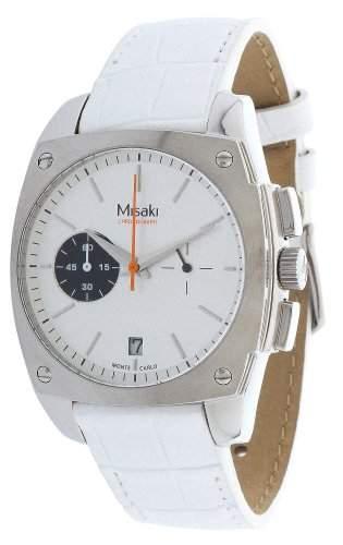 Misaki Damen-Armbanduhr Analog Quarz Leder QCRWMC98WSIL