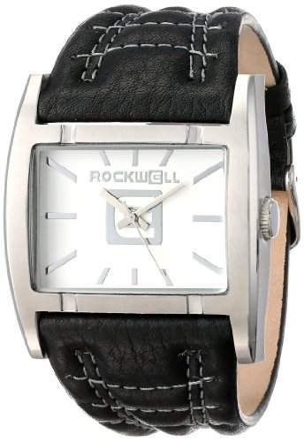 Rockwell Time Unisex AP101 Apostle Black Leather and White Uhr
