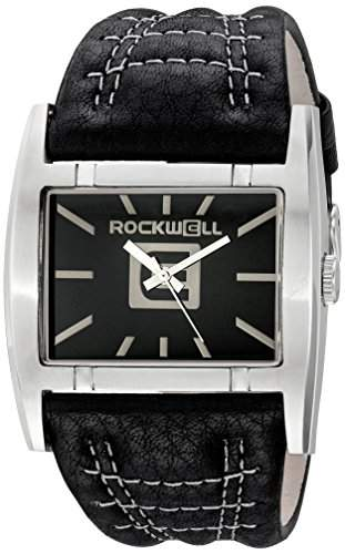 Rockwell Time Unisex AP102 Apostle Stainless Steel Case Black Leather Band Uhr