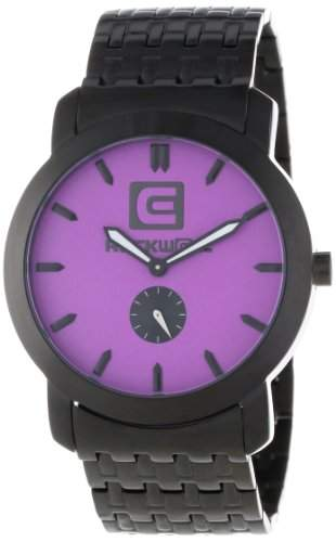 Rockwell Time Unisex CT110 Cartel Black Steel Band Purple Dial Armbanduhr