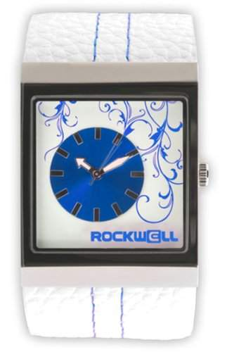 Rockwell Mercedes White Leather Blue MC102 Damenarmbanduhr