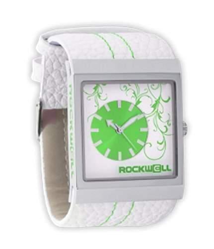 Rockwell Mercedes White Leather Green MC103 Damenarmbanduhr