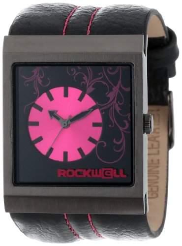 Rockwell Time Unisex MC107 Mercedes Black Leather and Pink Armbanduhr