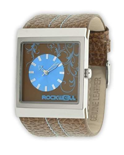 Rockwell Mercedes Brown Leather Blue MC115 Damenarmbanduhr