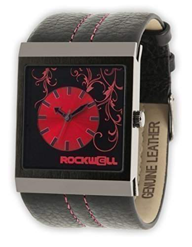 Rockwell Mercedes Black Leather Red MC118 Damenarmbanduhr