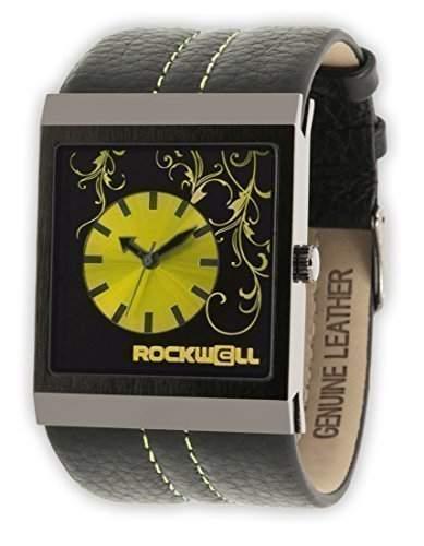 Rockwell Mercedes Black Leather Yellow MC123 Damenarmbanduhr