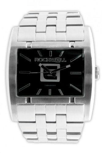 Rockwell Apostle Silver Black AP109 Armbanduhr Farbe Schwarz Band silber metallisch Gehaeusegroesse 45 mm Wasserdichte bis 50 m