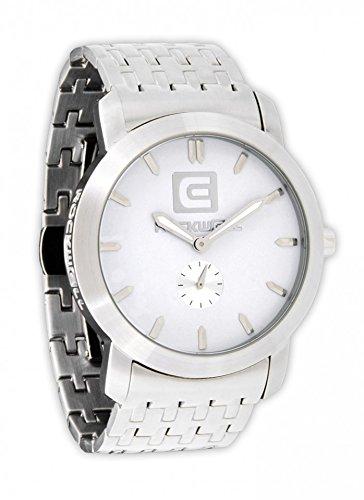 Rockwell Cartel Silver White CT101 Armbanduhr Farbe Weiss Band Silber Material Edelstahlgehaeuse und band Wasserdichte bis 50 m