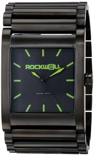 Rockwell RK110 Unisex Schwarzes Armband Schwarzes Vorwahlknopf Phantomgruenes Markiertes Watch