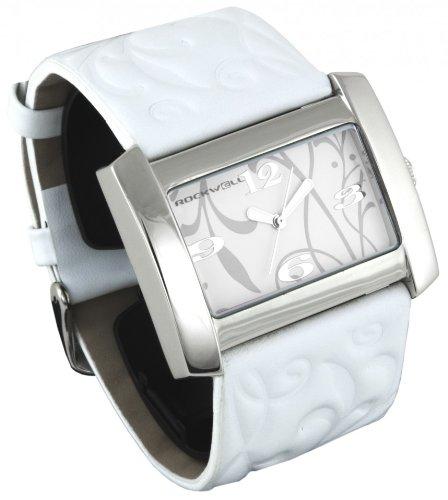 Rockwell Vanessa White Leather White VN101 Damenarmbanduhr Farbe Weiss Band Weisses Leder Material Stahllegierung Wasserdichte bis 30 m