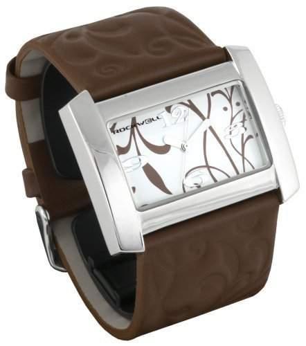 Rockwell Vanessa Brown Leather White VN104 Damenarmbanduhr