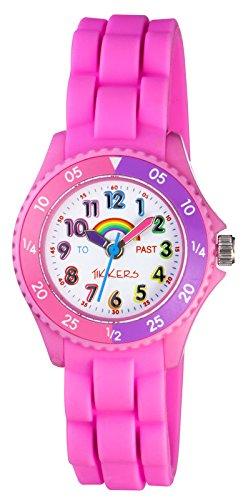 Tikkers zum Lernen des Zeitablesens Regenbogen design Armbanduhr NTK0005