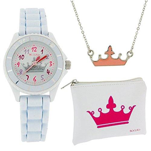 Tikkers Maedchen Kronenmotiv Uhr Halskette Portemonnaie ATK1009
