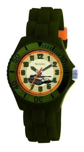 Tikkers Jungen-Armbanduhr Analog Plastik gruen TK0027