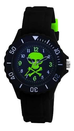 Tikkers Jungen-Armbanduhr Analog Plastik schwarz TK0031