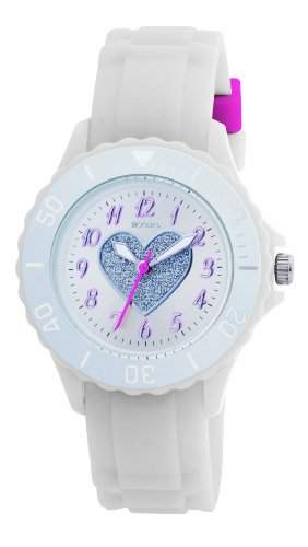 Tikkers Maedchen-Armbanduhr Analog Plastik Silber TK0034