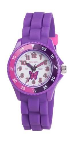 Tikkers Maedchen-Armbanduhr Analog kautschuk violett TK0041