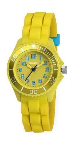 Tikkers Kinder-Armbanduhr Analog Gummi Gelb TK0061